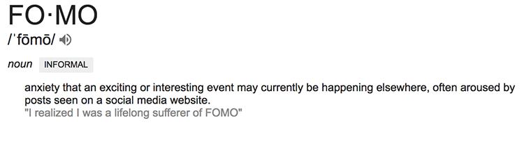 Definition of FOMO