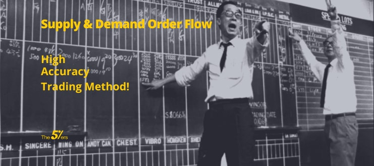 Understand the market's behavior using supply & demand order flow, the highest accuracy trading method!