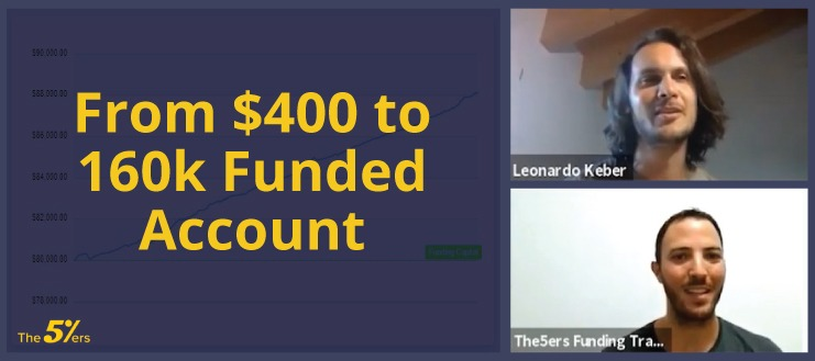 10 Months with The5ers From $400 to 160k Funded Account