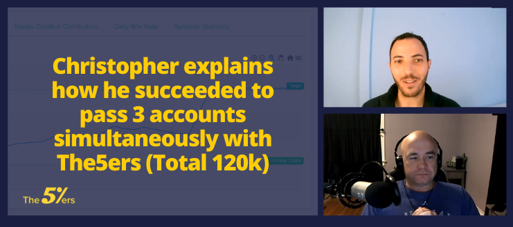 Christopher explains how he succeeded to pass 3 accounts simultaneously with The5ers (Total 120k)