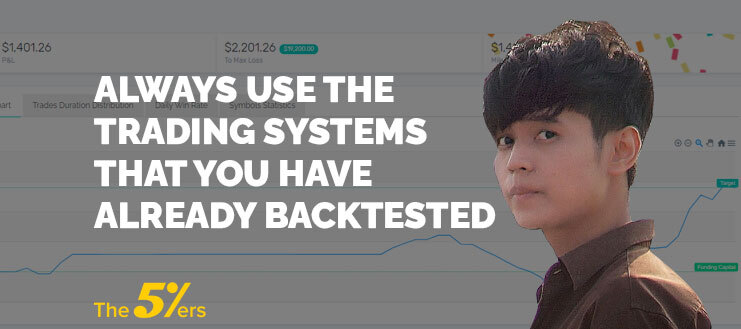 Always Use the Trading Systems that You Have Already Backtested