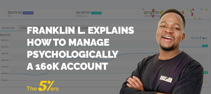 Franklin L. Explains How to Manage Psychologically a 160K Account. He is a 5%ers level 3 trader