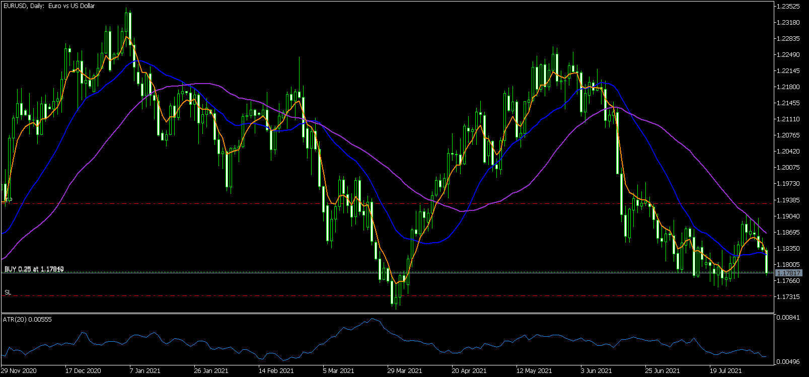 EUR/USD D1 Buy at Support