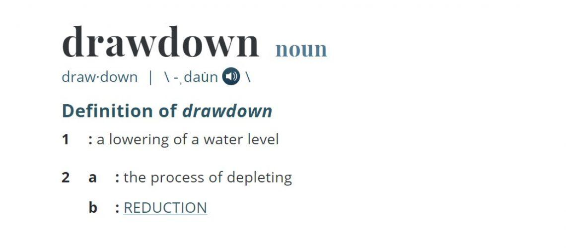 Drawdown in trading